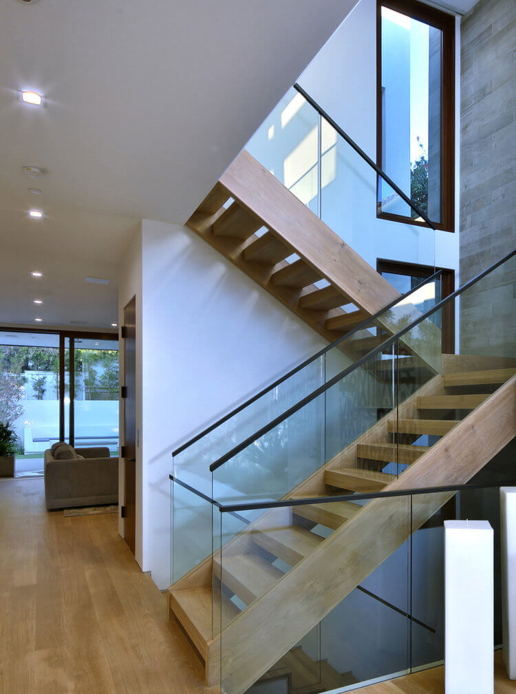 stairway with drywall by HH Drywall